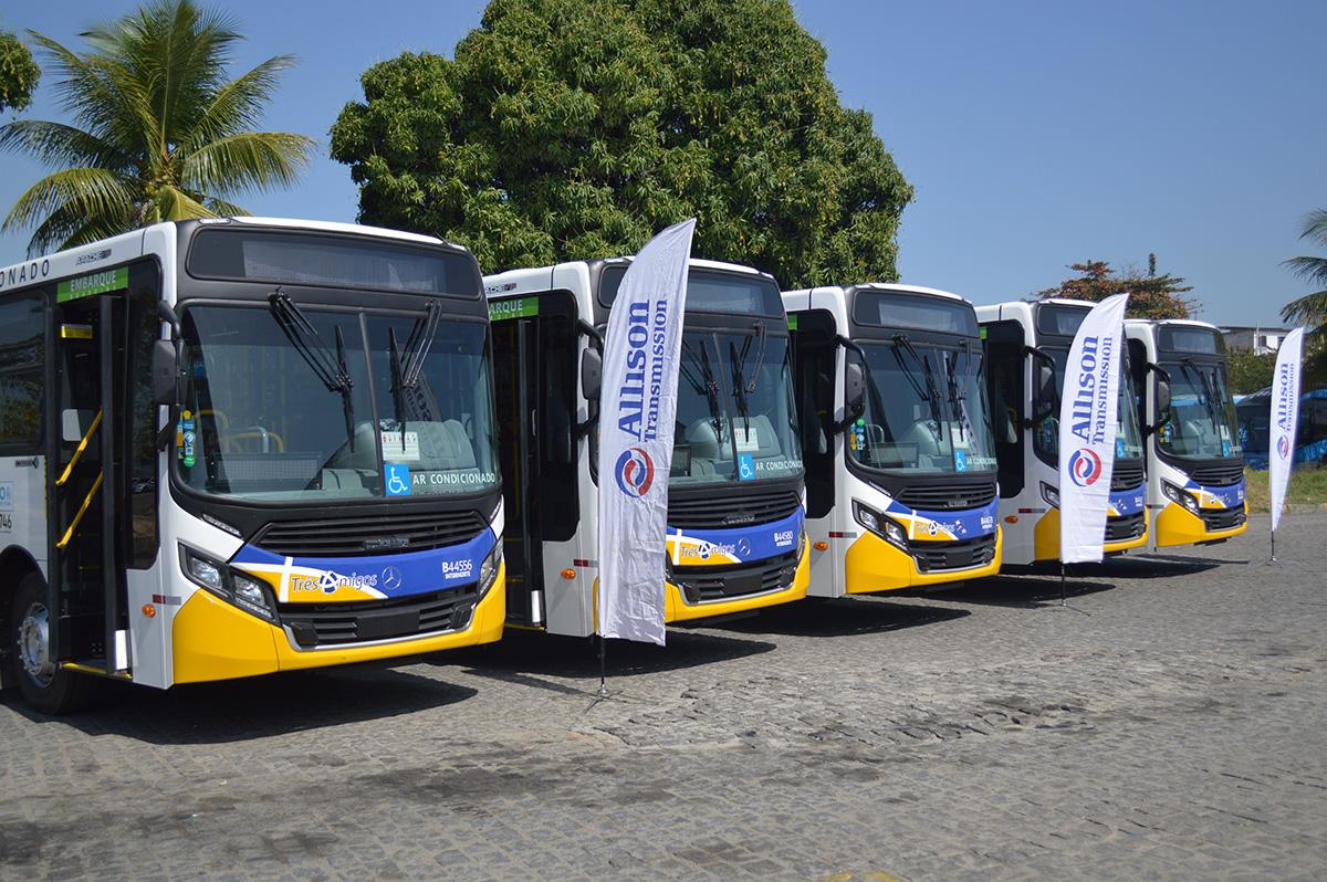 Primeiros ônibus com transmissões automáticas da Allison chegam ao RJ