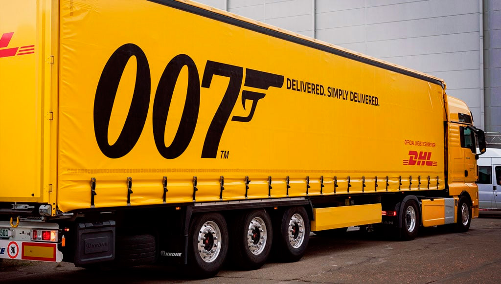 DHL faz a logística do filme de James Bond pela quinta vez