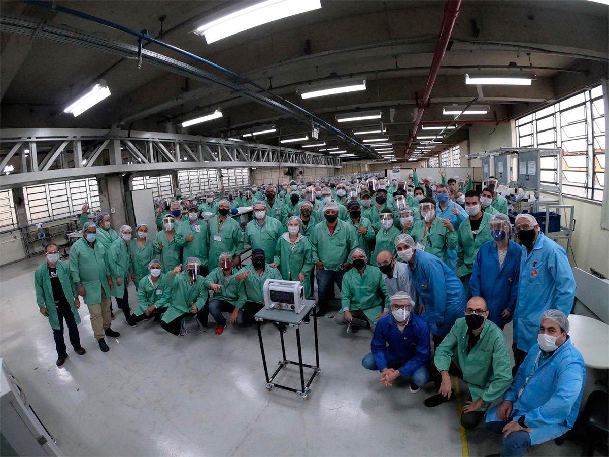 Mercedes-Benz e outras automotivas ajudam empresa paulista a fabricar respiradores mecânicos