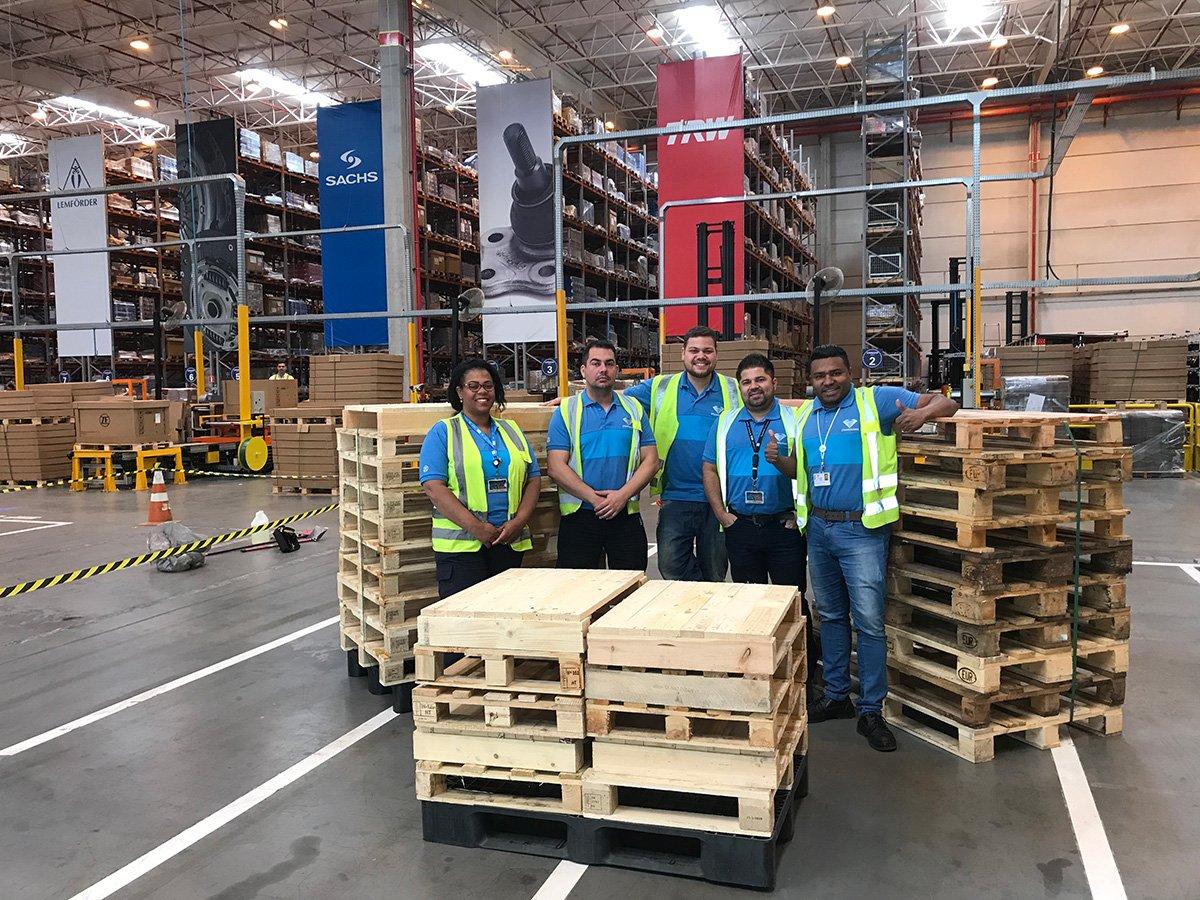 ZF preserva biomassa ao reutilizar pallets em suas fábricas paulistas