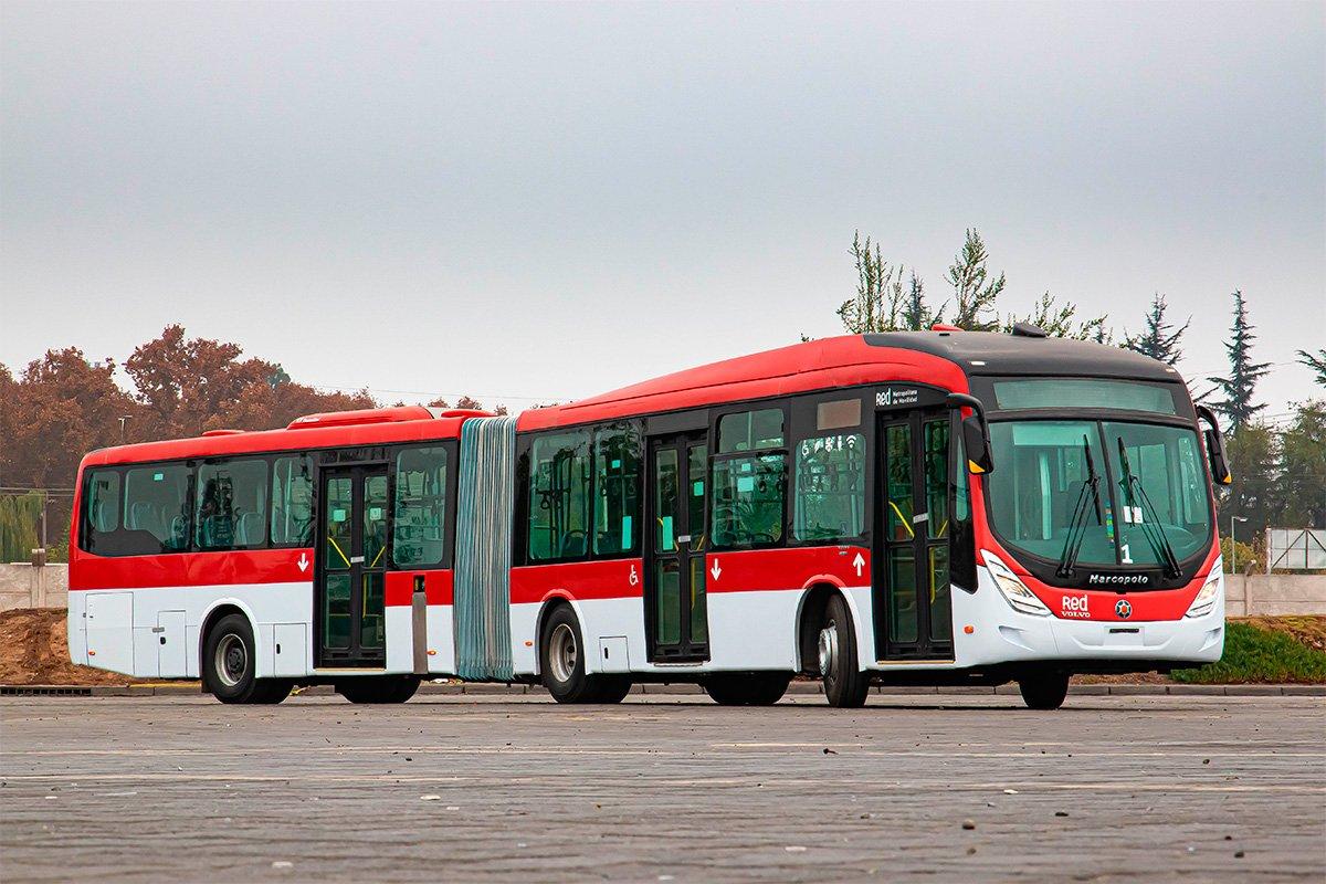 Volvo vende 200 ônibus articulados para o Chile
