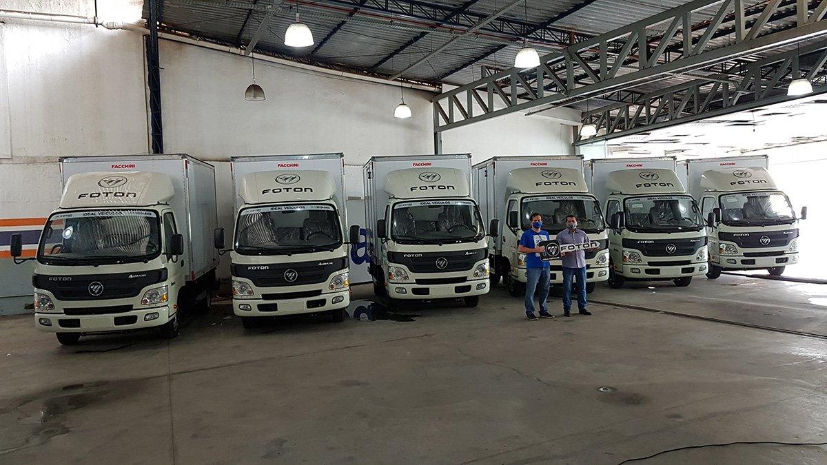 Foton vende seis caminhões para transportador de bebidas no Nordeste