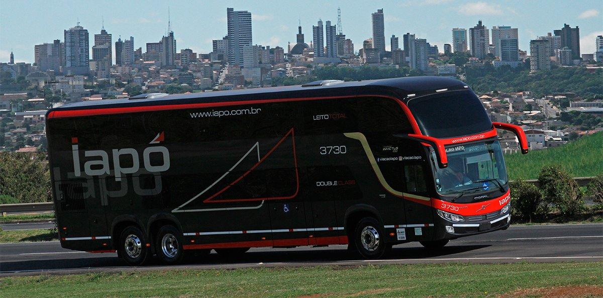 Viação Iapó investe em modernos ônibus Volvo com segurança ativa