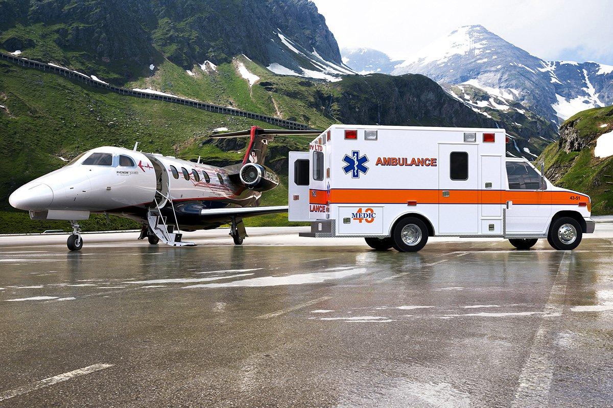 Embraer anuncia o avião médico Phenom 300MED