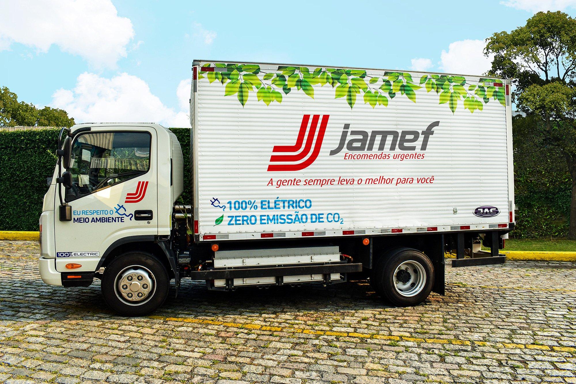 Jamef inicia testes com caminhão elétrico da JAC Motors em São Paulo