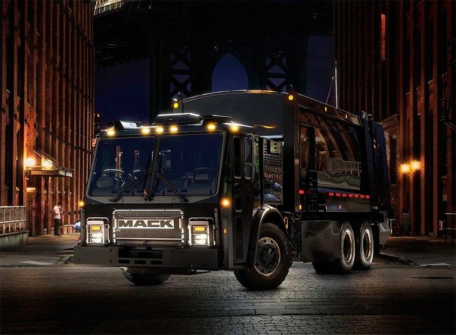Mack Trucks vai começar a fabricar caminhões elétricos para coleta de lixo em 2021 nos EUA