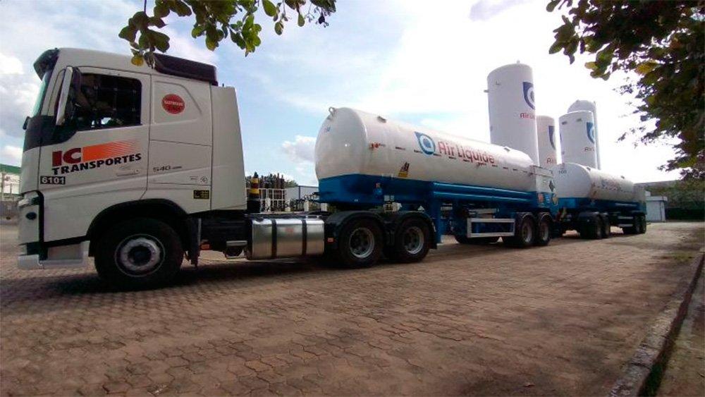 Air Liquide cria rodotrem especial para o transporte de oxigênio