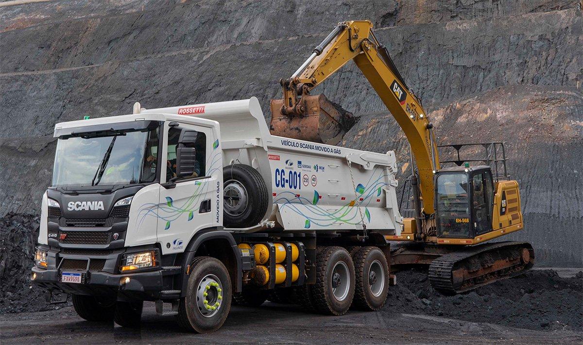 Primeiro Scania a gás da mineração é do Brasil