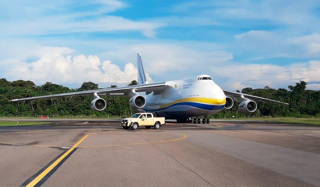 Aeroporto de Belém (PA) recebe voo de cargueiro gigante Antonov
