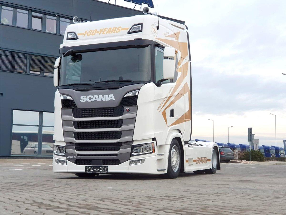 Scania lança edição limitada de 130 anos na Eslováquia