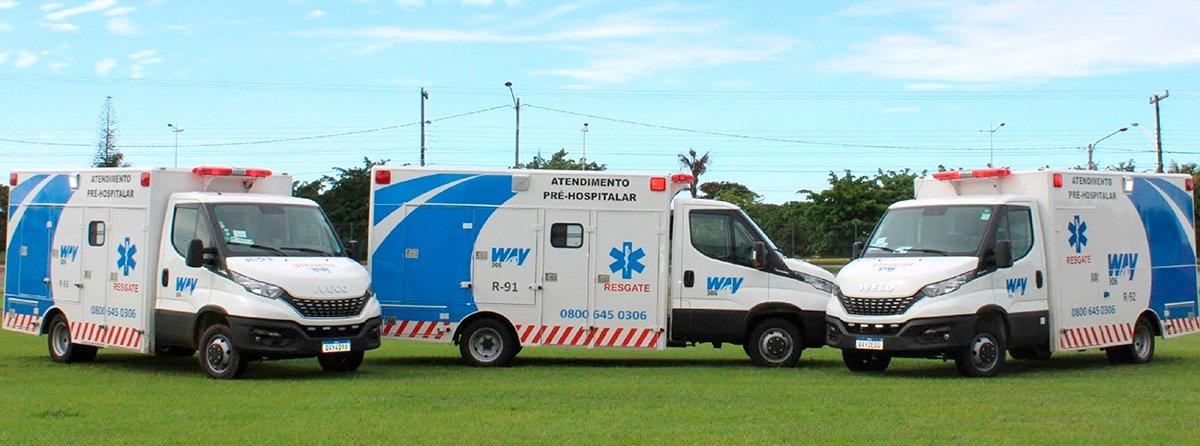Ambulâncias Iveco Daily vão atender usuários de rodovia no MS