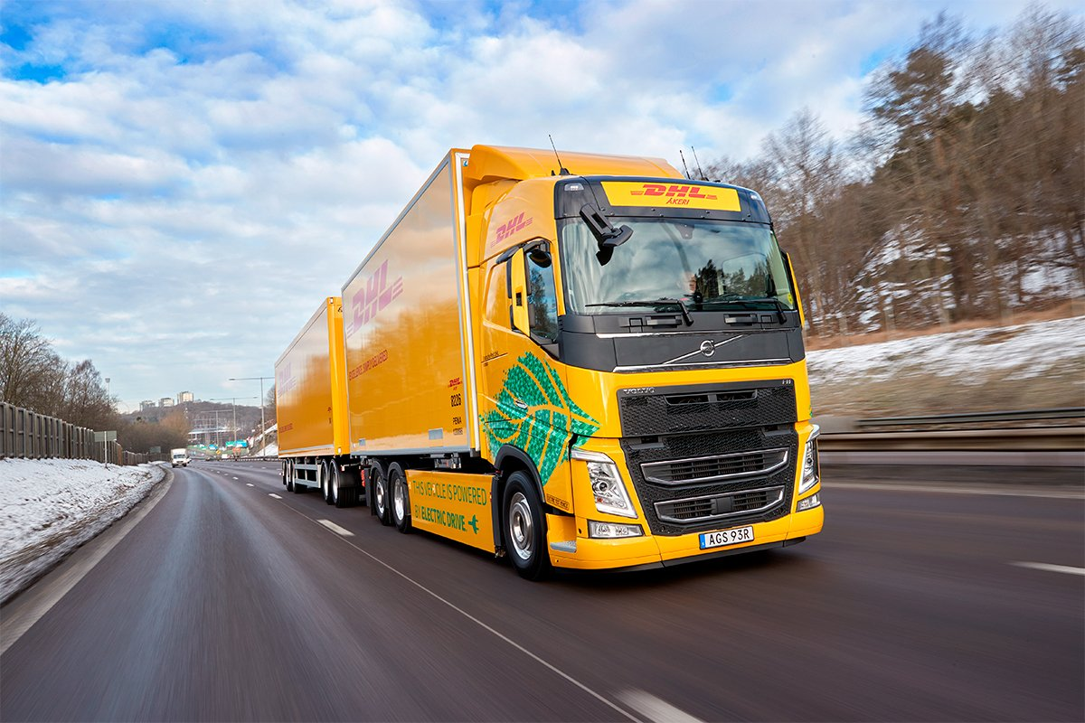 DHL testa Volvo FH elétrico na Suécia
