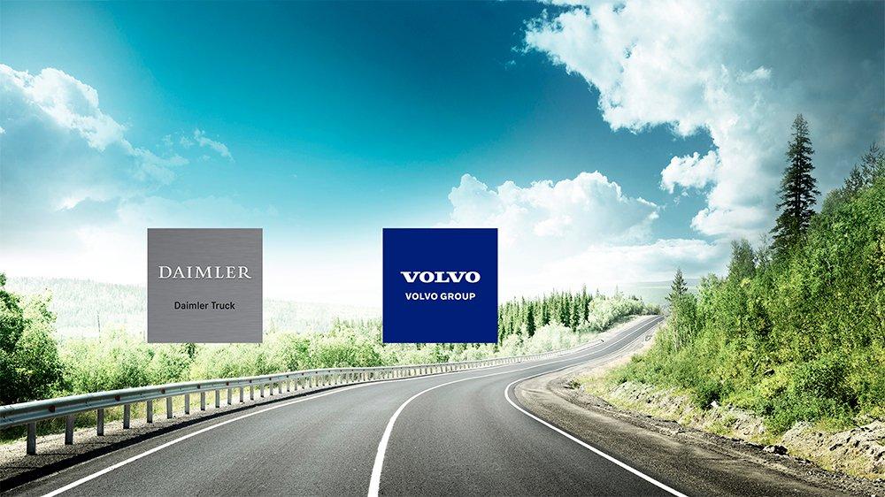 Daimler e Volvo juntas para o transporte do futuro