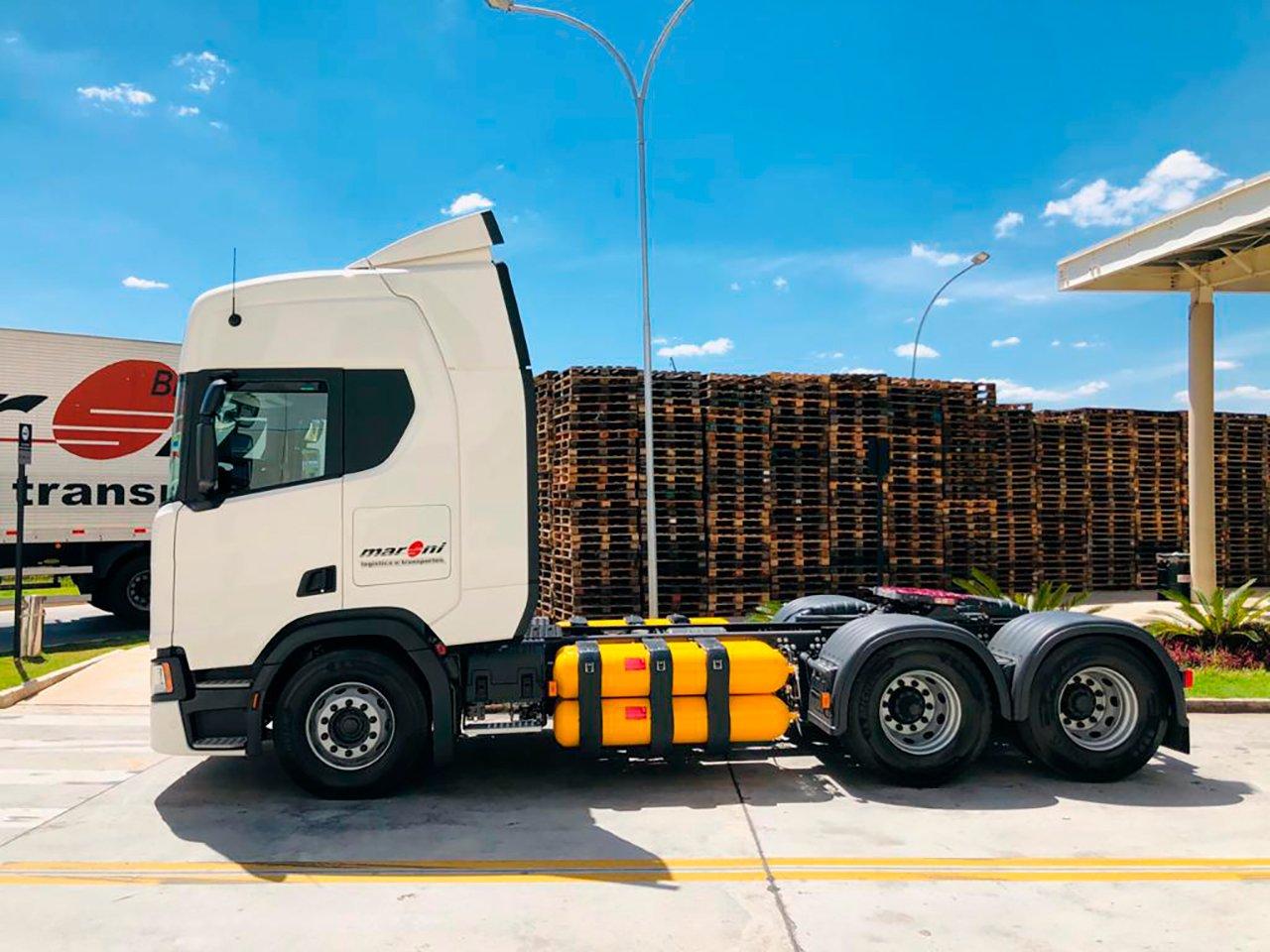 Grupo BIG expande o uso de caminhões a gás da Scania