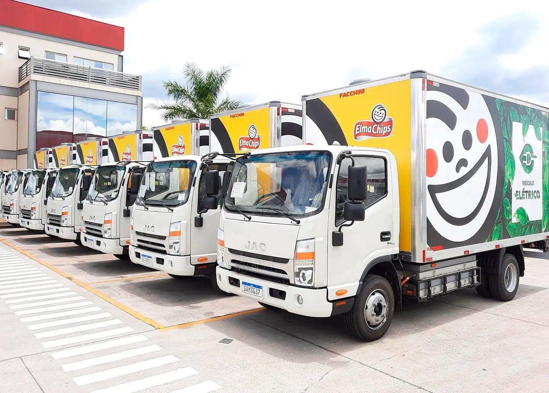 Fato histórico: caminhão elétrico da JAC aparece entre os leves mais vendidos do Brasil