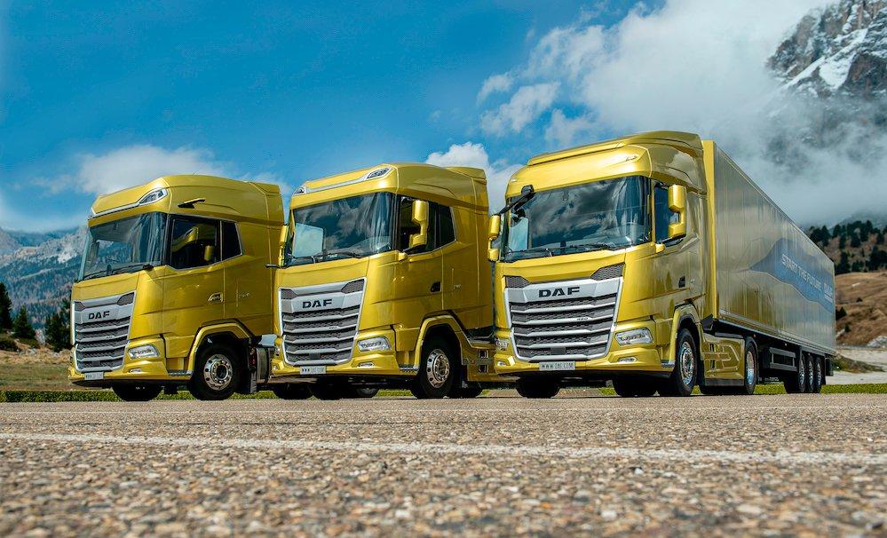 DAF é a primeira a apresentar a nova geração de caminhões na Europa