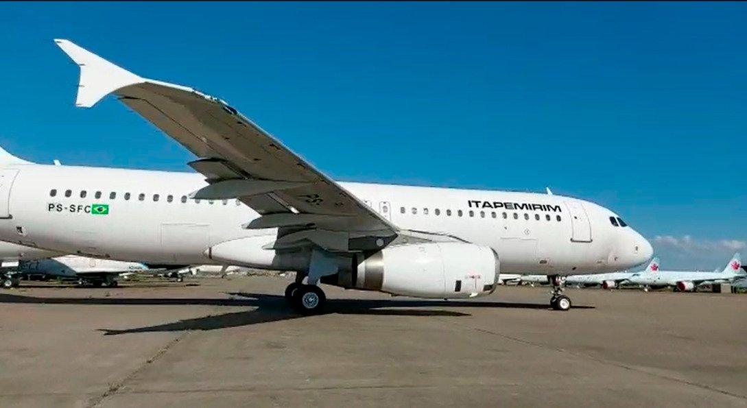 Chegou o 3º Airbus A320 da Itapemirim Transportes Aéreos