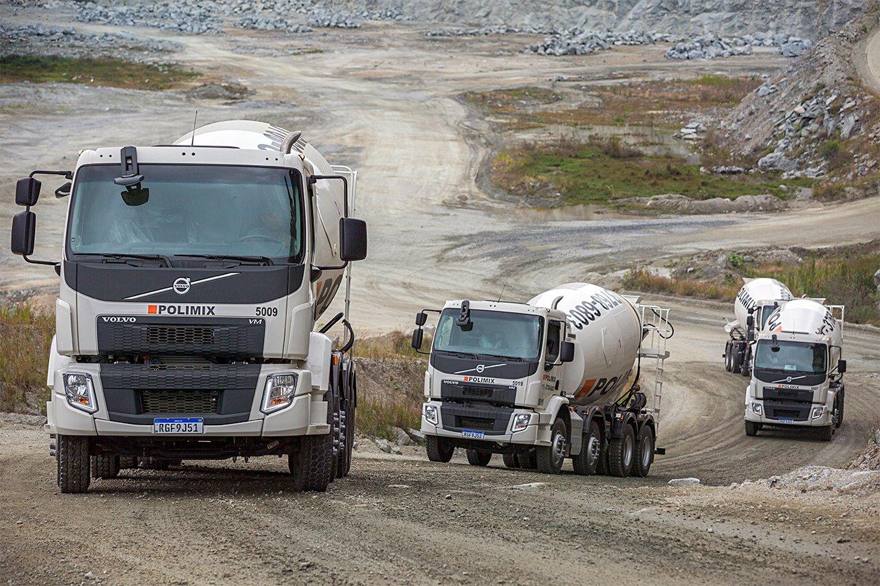 Gigante do concreto compra 150 caminhões betoneira da Volvo