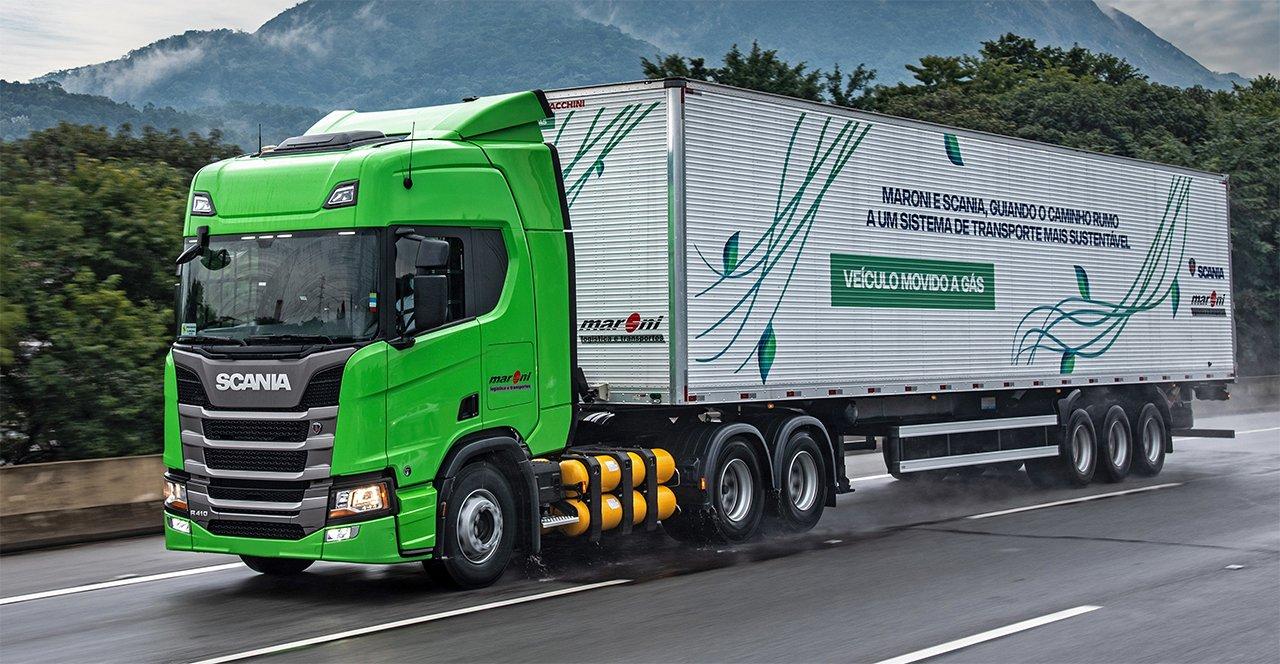TransMaroni chega a 50 caminhões Scania movidos a gás na frota
