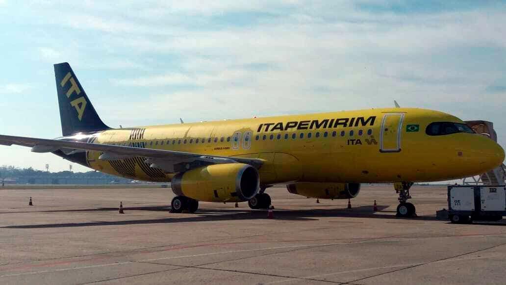 Itapemirim estreia nos céus do Brasil e recebe seu quinto Airbus