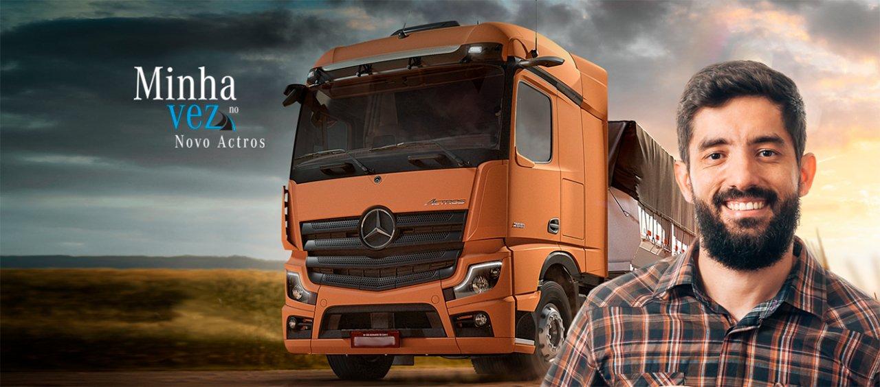 Mercedes-Benz e TruckPad vão levar 50 caminhoneiros para andar de Novo Actros