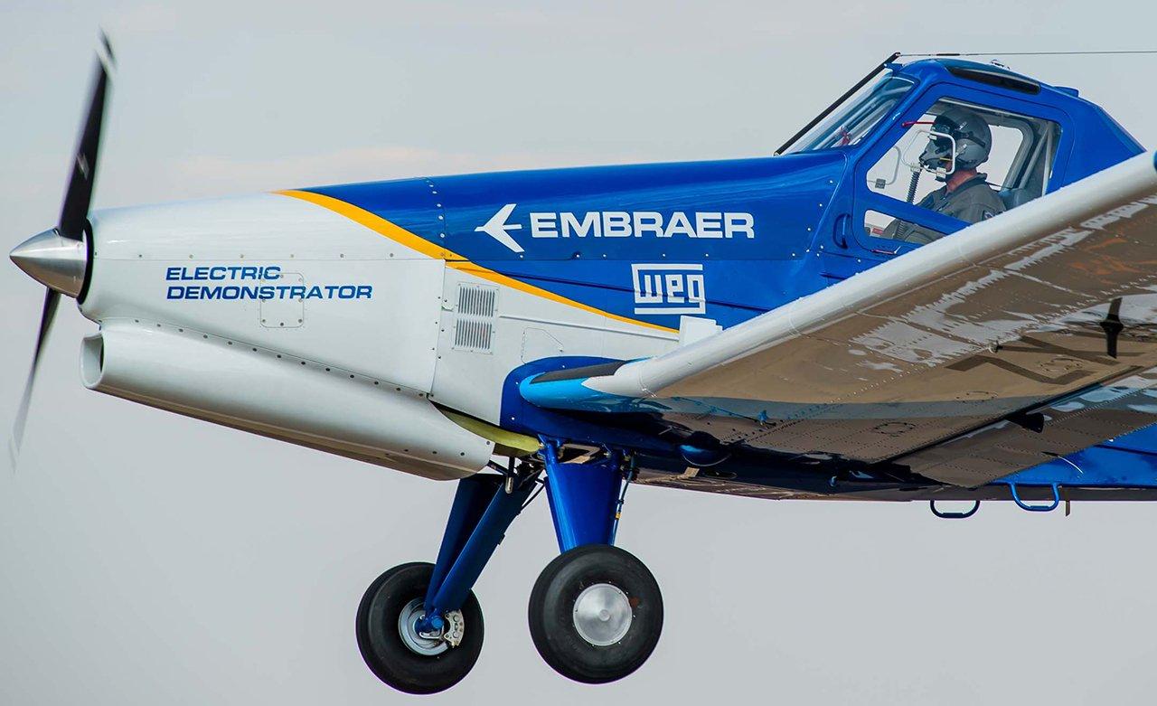 Embraer realiza primeiros voos de testes com avião elétrico